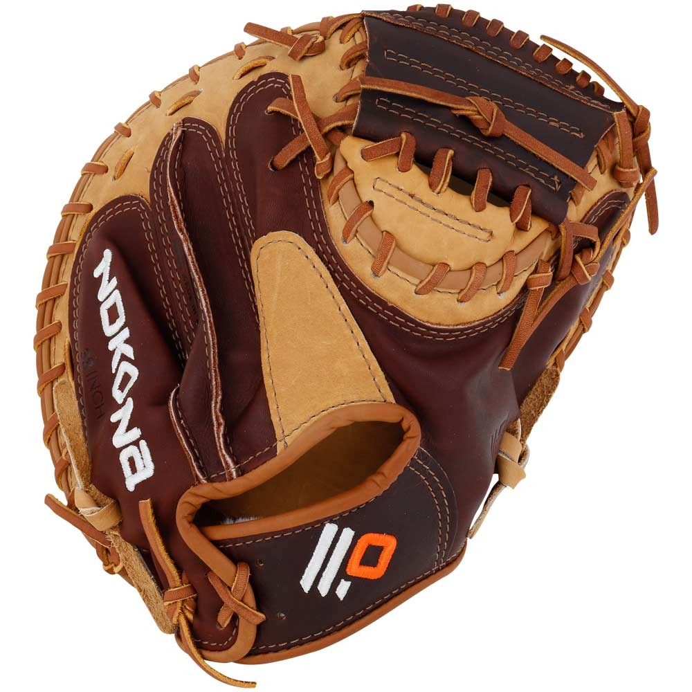 S2C-RightHandThrow Nokona Alpha Select Youth Baseball Catchers Mitt ... ae72c4a55fbb